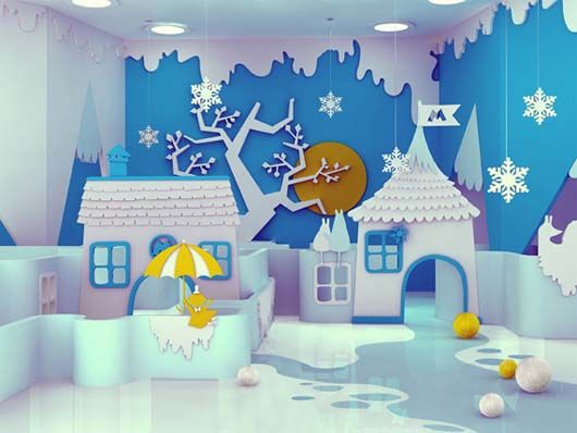 Transform the kid's bedroom into a magical winter wonderland